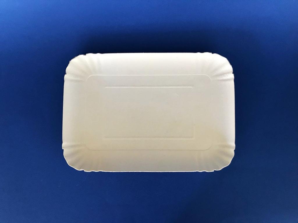 Vassoio di cartone bianco